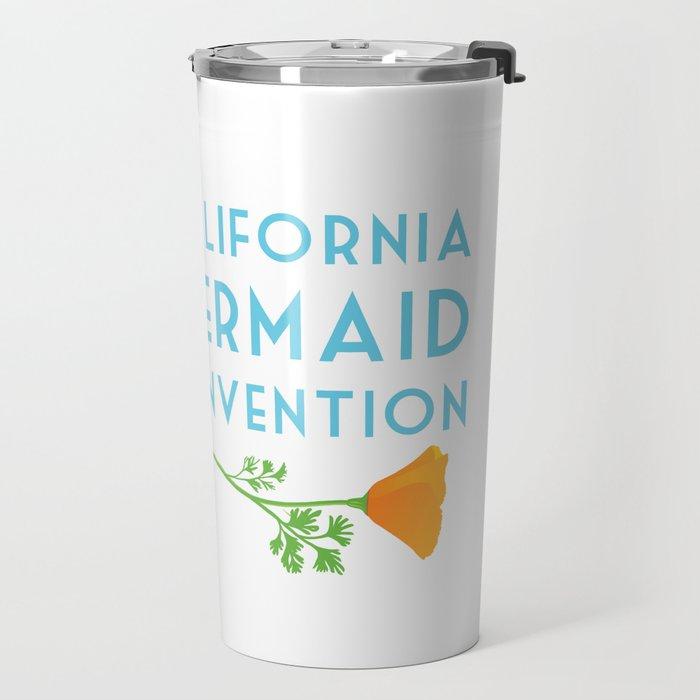 Simple Logo ·•· California Mermaid Convention Travel Mug