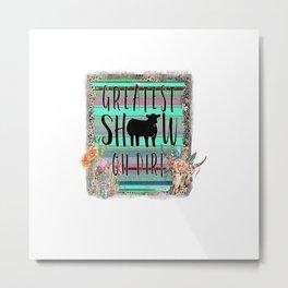 4H FFA Livestock Show County Fair Showing Animals Gift T-Shirt Metal Print