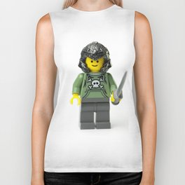 Green Minifig with a helmet and sword Biker Tank