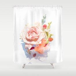 Light Pink Floral (Color) Shower Curtain