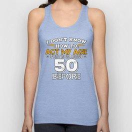 Birthday Gift 50 Years Fifty Born 1968 Unisex Tank Top
