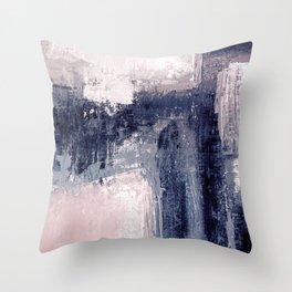 pink navy Throw Pillow