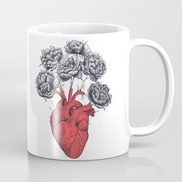 Heart with peonies Coffee Mug