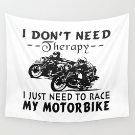 RACE MY MOTORBIKE Wall Tapestry