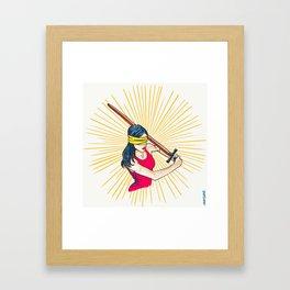 Badass Justice Framed Art Print