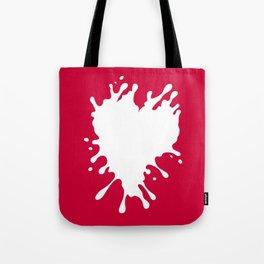 Splatter Heart Tote Bag