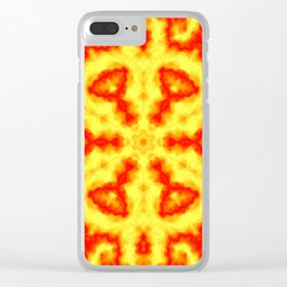 Fire Kaleidoscope 1 Clear iPhone Case
