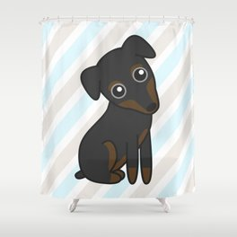Rylee the Min Pin Shower Curtain