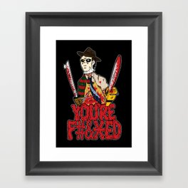 Slasher Mash (NSFW) Framed Art Print