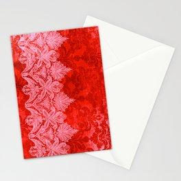ABERDEEN HEIRLOOM, LACE & DAMASK: GOTHIC VALENTINE Stationery Cards