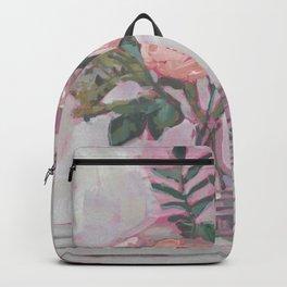 Pops of Hot Pink Florals Backpack