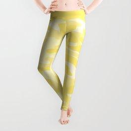 light Yellow Military Camouflage Pattern Leggings