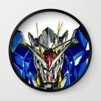 gundam Wall Clocks featuring Gundam 00 by Glen Howy
