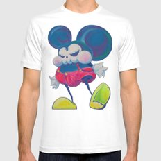 fatty skinny mickey skull MEDIUM Mens Fitted Tee White