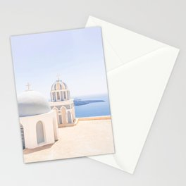 485. Another view from Fira, Santorini, Greece Stationery Cards