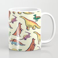 dinosaurs Mugs featuring DINOSAURS! by Sonny Ross