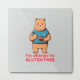 I'm allergic of gluten free Metal Print