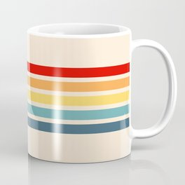 Takaakira - Classic Rainbow Retro Stripes Coffee Mug