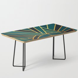 Art Deco Sunset In Teal Coffee Table