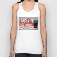 austin Tank Tops featuring Austin, TX by Black Oak ATX