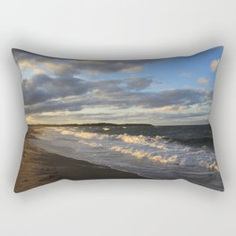 Evening Seascape Waves Rectangular Pillow