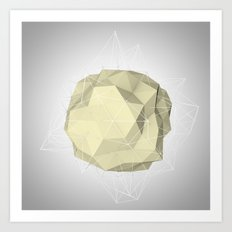 triangle circle Art Print