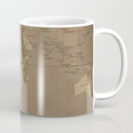 Medieval World Map Coffee Mug