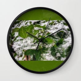 Snow & Ivy Wall Clock
