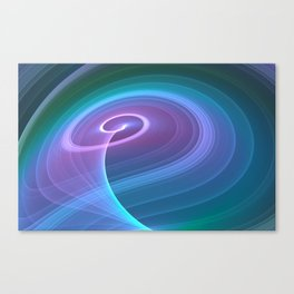 Spiral of Light in Blue Canvas Print