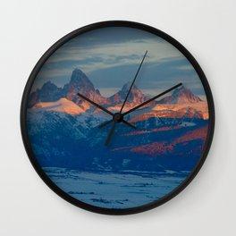 Teton Sunset Wall Clock