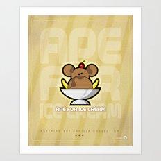 Ape for Ice Cream Art Print