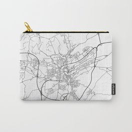 Minimal City Maps - Map Of Luxembourg City, Luxembourg. Carry-All Pouch