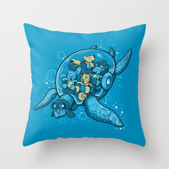 FLYING DEEP Throw Pillow