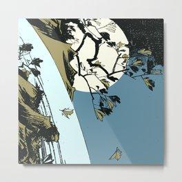 Hiroshige - Moon over a Waterfall Metal Print