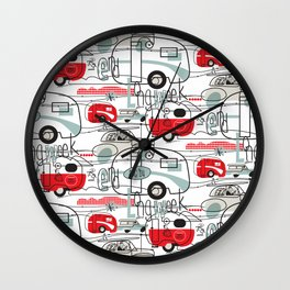 LONG WEEK END Wall Clock
