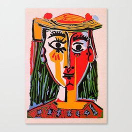 Head of a woman in a Hat Picasso Canvas Print