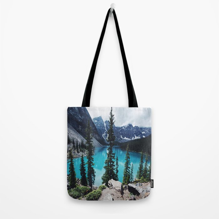 Lake Moraine Alberta Tote Bag