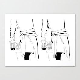 Sweater Dress - II Canvas Print