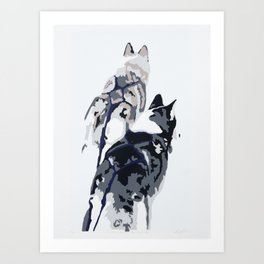 Unless You're The Lead Dog Art Print