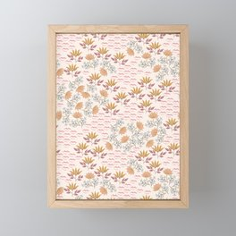 Field of Kisses. Bohemian Floral Framed Mini Art Print