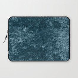 Peacock teal velvet Laptop Sleeve