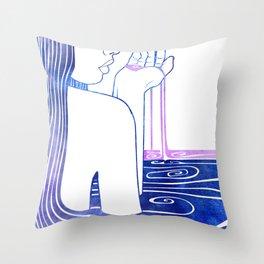 Kalianassa Throw Pillow