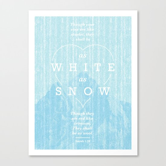 as white as snow Canvas Print