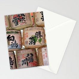 Sake barrels at shrine Stationery Cards