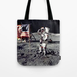 Salute on the Moon Tote Bag