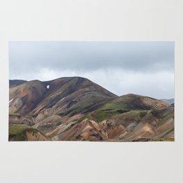 Landmannalaugar rainbow mountains in Iceland - landscape photography Rug