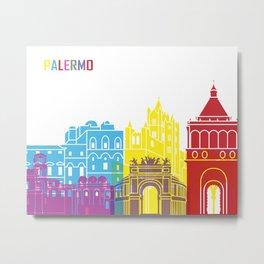Palermo skyline pop Metal Print