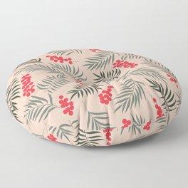 Holiday Mistletoe Pattern Floor Pillow
