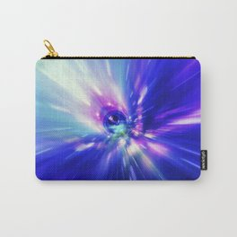 Interstellar, time travel and hyper jump in space. Flying through wormhole tunnel or abstract energy Carry-All Pouch