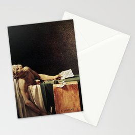 Death of Marat by - Jacques-Louis David Stationery Cards